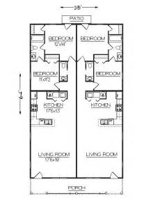 duplex floor plans for narrow lots duplex j2030d plansource duplex plans