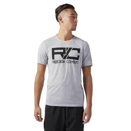 Kaos Tshirt Rebook Lesmills Crossfit Combat Grey reebok combat s t shirt in grey