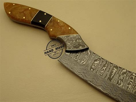 Handmade Kitchen Knife - best damascus chef s knife custom handmade damascus steel