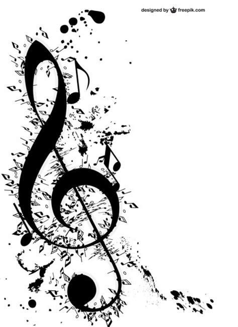 imagenes en blanco y negro de notas musicales clave de sol y notas musicales descargar vectores gratis