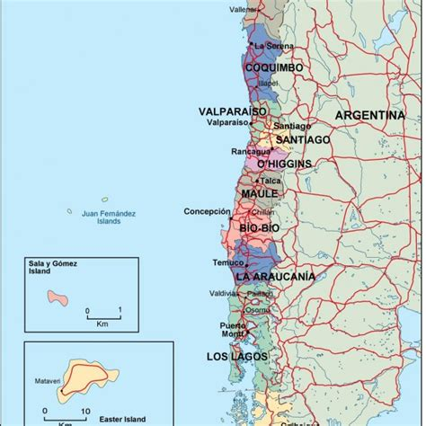 chile political map chile vector eps maps our chile vector eps maps