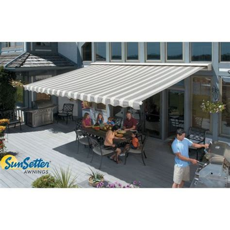 manual retractable awning sunsetter manual retractable awning home cabin pinterest