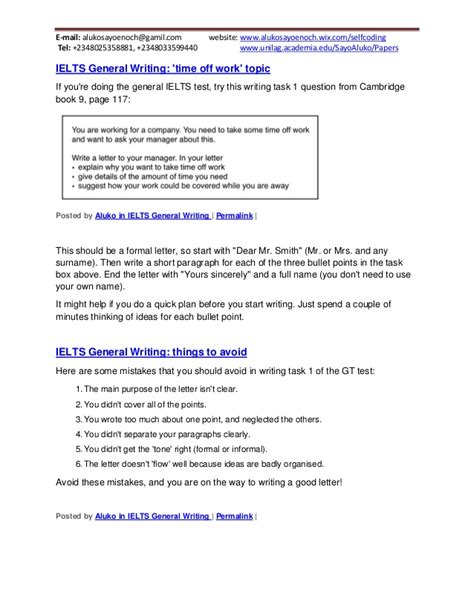 Ielts General Essay Writing Tips by 95 Ielts General Writing Letters Topics A Summary Of These Tips Would Be That Letter