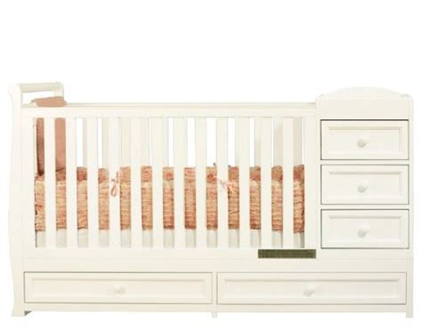 White Convertible Crib With Changing Table Cribs With Attached Changing Table Convertible Crib With Changing Table In White Finish By Afg