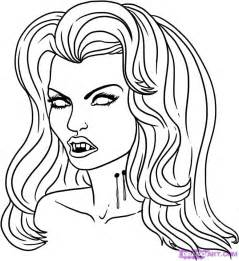 vampires colouring pages
