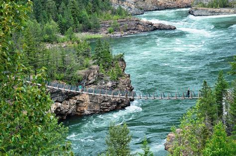 kootenai falls swinging bridge kootenai falls swinging bridge libby montana been