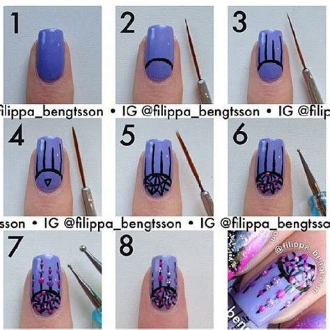 tutorial nail art instagram lindsey peterson nailsbylindsey black stilletos