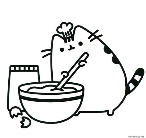 dessin de cuisine à imprimer coloriage pusheen cuisine parfaitement un vrai chef