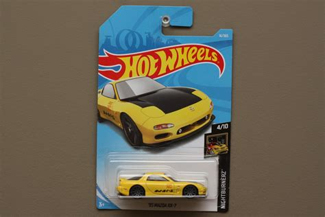 Hotwheels Wheels 95 Mazda Rx 7 Yellow Kuning wheels 2018 nightburnerz 95 mazda rx 7 yellow see condition