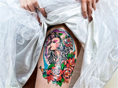 exotic thigh tattoos for women tattoo love