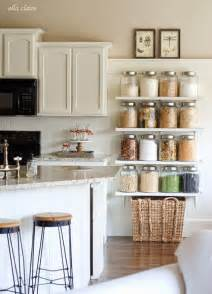 diy kitchen shelving ideas diy country store kitchen shelves more pantry space ella