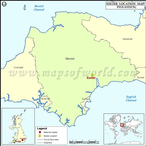 map uk exeter where is exeter location of exeter in map