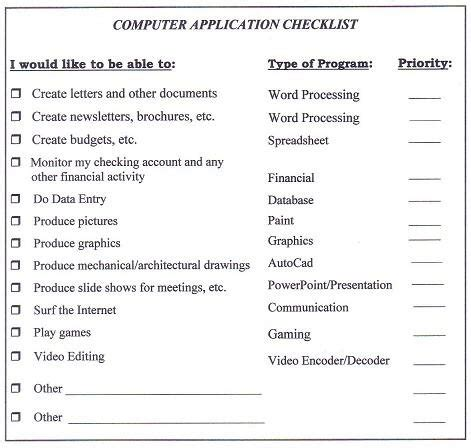 pc checklist template best computer guide to buying the best computer