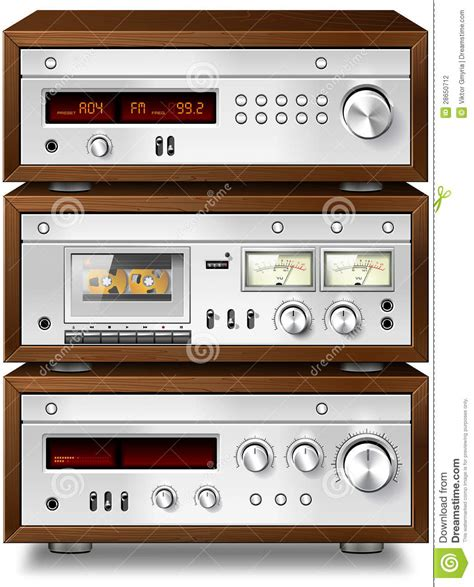 stereo cassette deck stereo cassette deck with lifier and tuner stock