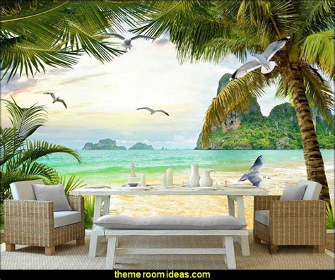 beach murals for bedrooms decorating theme bedrooms maries manor tropical beach