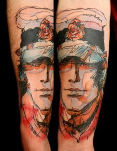 kiss tattoos for men rock band ideas