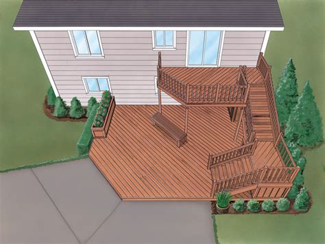 grafton split level deck plan 064d 3008 house plans and more