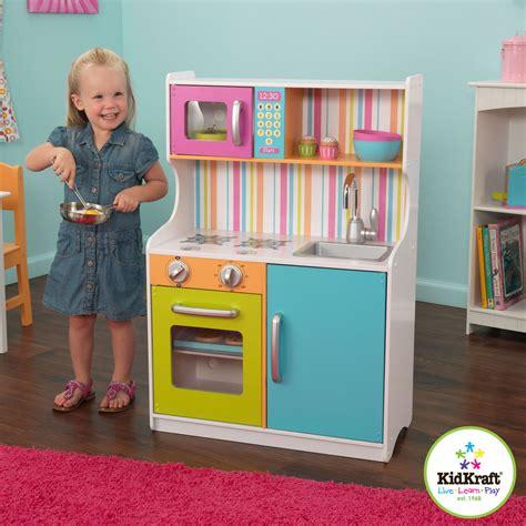 play kitchen for toddler kidkraft bright toddler kitchen wooden play kitchen ebay