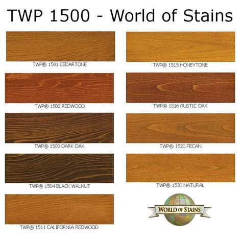 Interior Wood Stain Colors Home Depot by World Of Stains Color Charts Stain Colors Links To