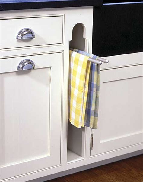 Dish Towel Rack by Looking For A Photo Integrated Dish Towel Holder In Pullout