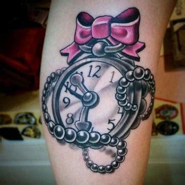 tattoo old school girly significado de tatuajes de reloj para mujeres y brujulas