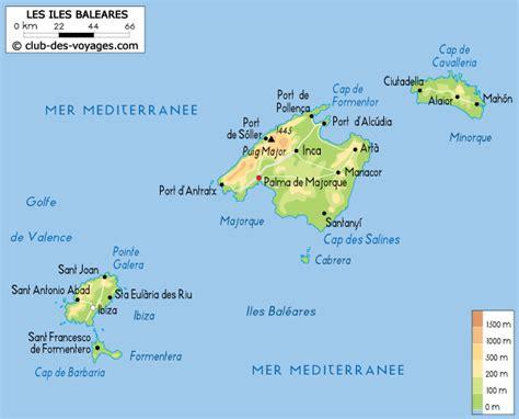 0004488962 carte touristique ibiza and carte iles bal 233 ares archives voyages cartes