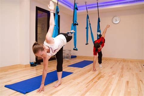 what is a yoga swing swing yoga class in dubai fitness first uae