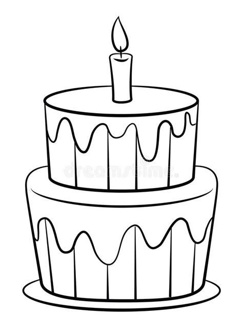 clipart compleanno torta di compleanno illustrazione vettoriale