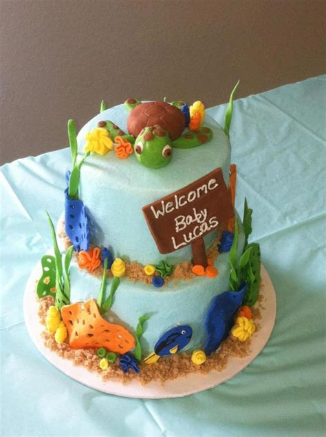 Nemo Baby Shower Cake by Finding Nemo Themed Baby Shower Cakecentral