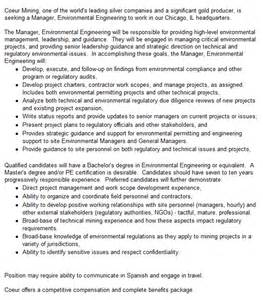 Environmental Manager Description by Document Moved