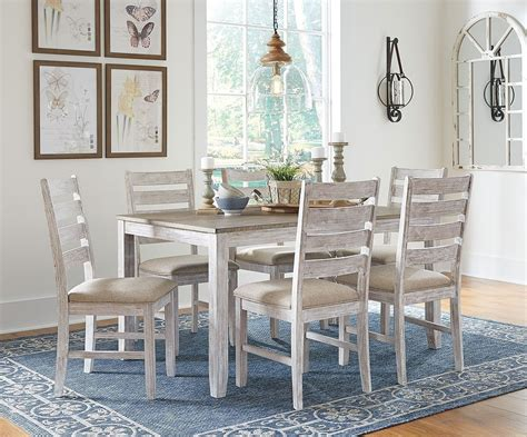 skempton 7 piece dining room set signature design