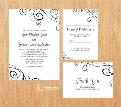 printable wedding stationery 25 free printable wedding invitations