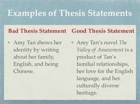 bad thesis statement exles exles of and bad thesis statements