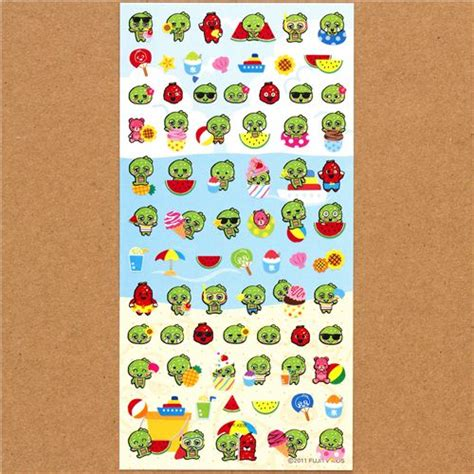 Sticker Small small stickers gachapin green summer