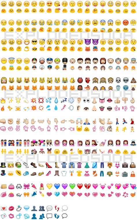 iphone emojis for android ios to hangout emoji comparison explodedsoda