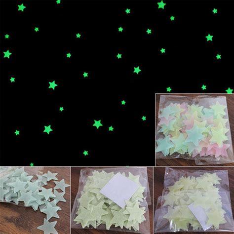 stiker dekorasi bintang glow in 3cm 50 pcs blue jakartanotebook