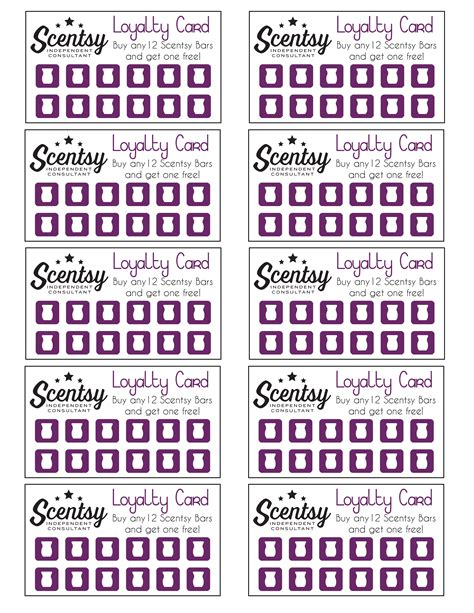 scentsy loyalty card template scentsy loyalty card pinteres