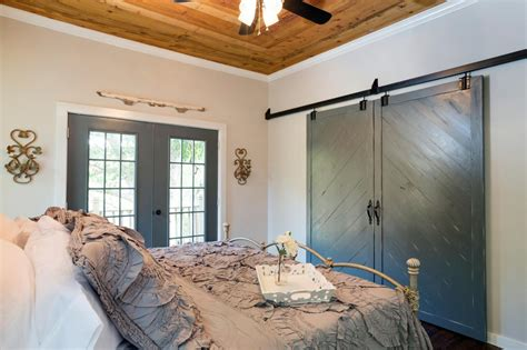 barn door bedroom master bedroom with barn door closet hgtv