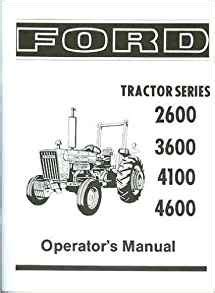 small engine repair manuals free download 1984 ford bronco ii electronic throttle control ford tractor 2600 3600 4100 4600 owners instruction service operator s maintenance manual