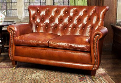 contrast upholstery contrast upholstery coleridge leather buttoned back sofa