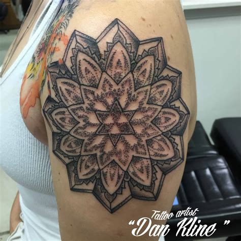 tattoo mandala artist kline family ink dotwork mandala tattoo kline family ink
