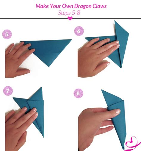 Origami Claws - paper claw tutorial enter the