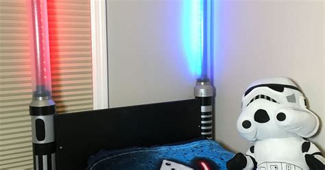 Lightsaber Bedroom Light Lightsaber Headboard Hometalk