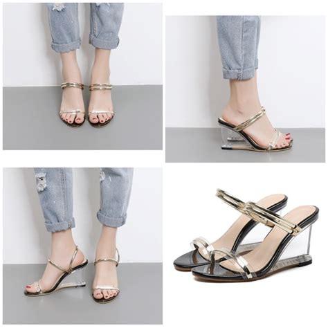Sepatu High Heels Glitter 9cm jual shha631 black sepatu heels elegan 9cm grosirimpor