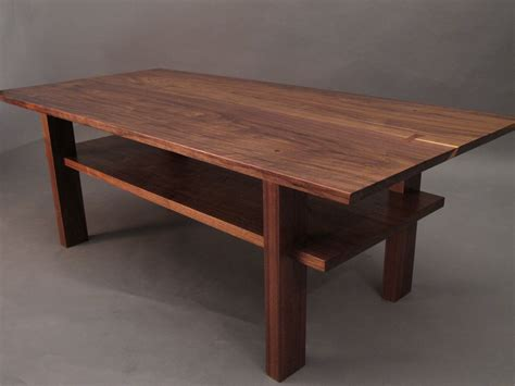 Handmade Contemporary Furniture - walnut coffee table small wood tables for living room narrow