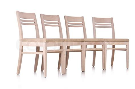 Row Of Chairs by Row Of Chairs Isolated On The White Stock Photo Colourbox