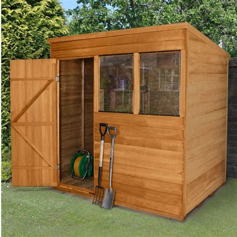 7x5 Metal Shed by Forest Overlap Pent Garden Shed 7 X 5 Elbec Garden Buildings