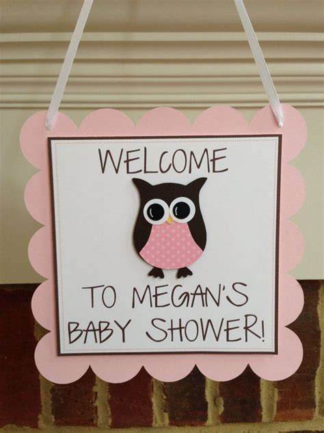 Owl Baby Shower Decor owl baby shower decor welcome door sign my creations