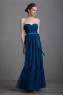 blue bridesmaid dresses navy blue bridesmaid dress gown bhldn onewed