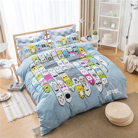 kawaii bed set unique design kawaii animal cartoon bedding sets queen